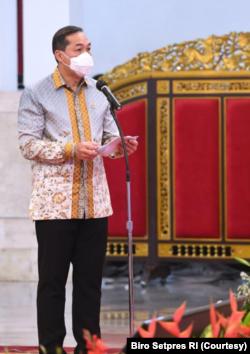 Mendag Muhammad Lutfi mengatakan pemerintah berkomitmen memberdayakan UMKM agar bisa memiliki daya saing global. (Foto: Courtesy/Biro Setpres)
