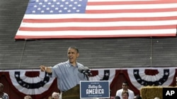 5일 오하이오주 유세하는 바락 오바마 미 대통령.