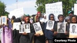 Des victimes d'Hissene Habré en 2005