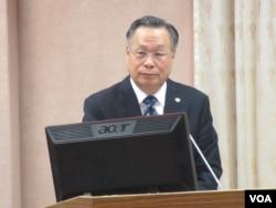 台湾国防部长严明(美国之音张永泰 拍摄)