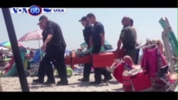 Nổ bí ẩn tại bãi biển Rhode Island, một người bị thương (VOA60)