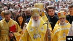 Глава Украинской православной церкви Киевского патриархата (УПЦ КП) Филарет. Архивное фото