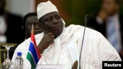 FILE - Gambia's President Yahya Jammeh attends the plenary session of the Africa-South America Summit on Margarita Island, Sept. 27, 2009.