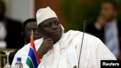 Yahya Jammeh attends the plenary session of the Africa-South America Summit on Margarita Island, Sept. 27, 2009.