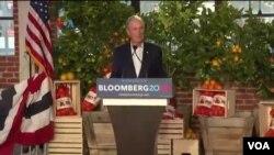 """Kampanye Michael Bloomberg, Calon """"Kuda Hitam"""" dalam Bursa Capres Partai Demokrat AS. (Foto: videograb)."""