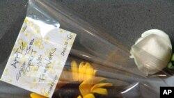 香港人献花纪念乔布斯