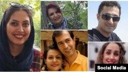 بهائیان بازداشت شده در شیراز، سودابه حقیقت، نوید بازماندگان، بهاره قادری، الهه سمیعزاده، احسان محبوب راهوفا، نورا پورمرادیان