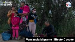 Cansancio y gratitud son los sentimientos que predominan entre los venezolanos que logran cruzar el Río Grande en busca de una nueva vida en EE. UU. [Archivo: VOA]