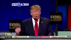 VOA60 America - The top Republican presidential contenders faced off in a contentious debate