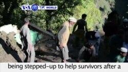 VOA60 World PM - Afghan, Pakistan Officials Assess Quake Damage