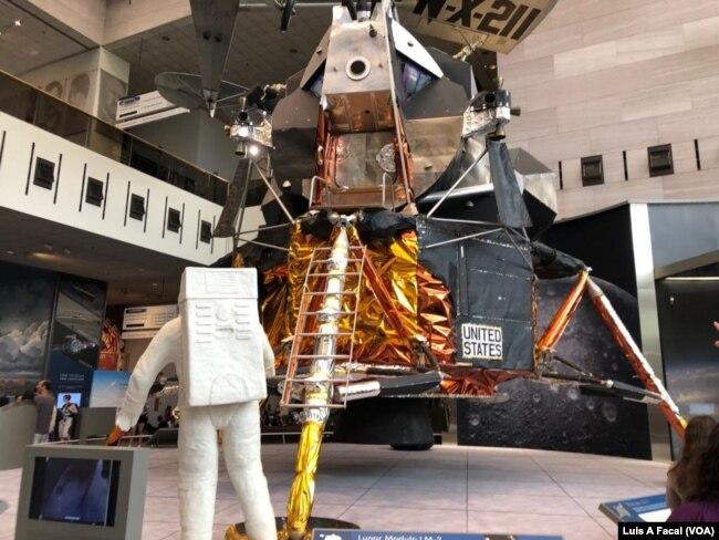 Este módulo lunar LM-2 similar al utilizado por los astronautas, Neil Armsntron y Buzz Aldrin para descender en la Luna, fue utilizado en pruebas previo a la misión del Apolo 11.