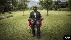 Le président de la République démocratique du Congo, Joseph Kabila, dans un jardin de son ranch personnel le 10 décembre 2018, à Kinshasa.