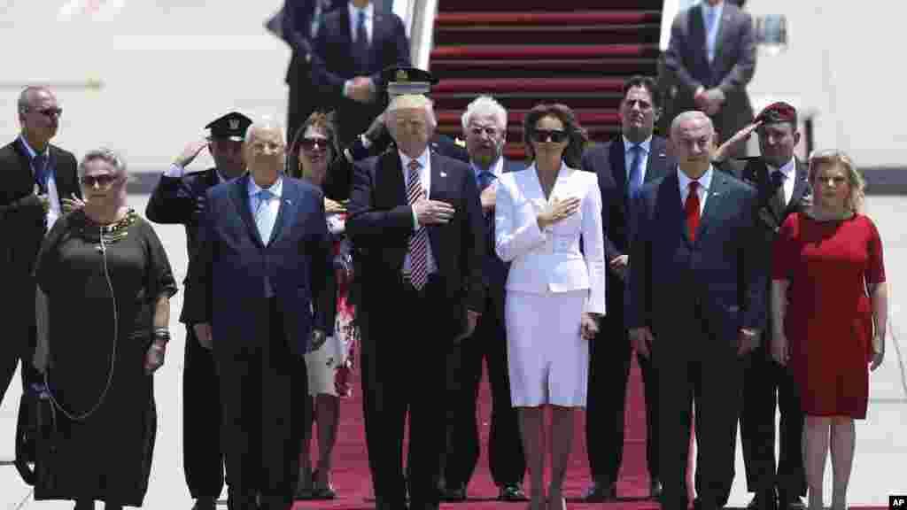 Le président américain Donald Trump et son épouse Melania, à Tel Aviv, le 22 mai 2017.