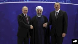 Владимир Путин, Хасан Рухани и Ильхам Алиев