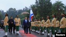 Le Premier ministre israélien Benjamin Netanyahu au Palais national à Addis Ababa, Ethiopie, le 7 juillet 2016.