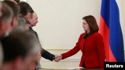 Президент Путин и глава Центробанка РФ Эльвира Набиуллина