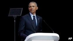 Экс-президент США Барак Обама. Йоханнесбург, Южная Африка. 17 июля 2018 г.