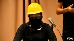 """化名""""郭殤""""的發言人表示,反送中運動就是源於香港人對中共政權持續的不信任。(攝影: 美國之音湯惠芸)"""