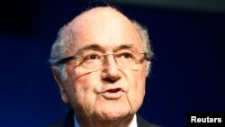 FILE - FIFA President Sepp Blatter has been suspended from the organization. He's shown at FIFA headquarters in Zurich, Switzerland, June 2, 2015.