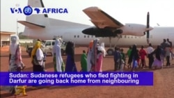 VOA60 Africa- Sudanese refugees begin return from CAR after 10 years