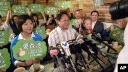 何俊仁宣佈參選。