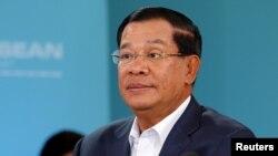 Thủ tướng Campuchia Hun Sen trong một cuộc họp của khối ASEAN. (Ảnh tư liệu)