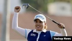 지난 7일 미국 캘리포니아주 란초미라지에서 열린 미국여자프로골프(LPGA)투어 크래프트 나비스코 챔피언십에서 우승한 박인비 선수. (자료사진)