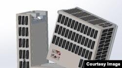 A rendering of the Cislunar Explorers CubeSat separating after deployment. (Kyle Doyle)