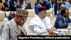Shugaba Buhari Da Mahamadou Issoufou, jiga jigan kungiyar ECOWAS