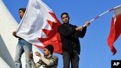 Photo d'archives: Des jeunes lors d'une manifestation à Bahreïn.