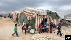 Лагерь сирийских беженцев в Арсале, Ливан