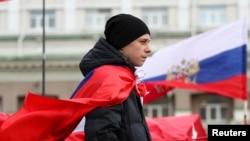 Демонстрация в Донецке 17 марта 2014г.