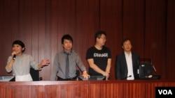 2019年5月14日上午,香港民主派议员准备召开法案委员会会议 (美国之音记者申华拍摄)