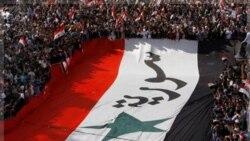 سوریه صحنه تظاهرات هواداران دولت علیه اتحادیه عرب