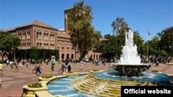 Universidad del Sur de California (USC). Fotografía de la página oficial de la escuela donde se informó de un presunto tiroteo que la policía descartó luego de investigar.