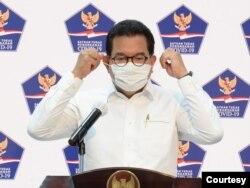 Jubir Satgas Penanganan COVID-19 Prof Wiku Adisasmito dalam telekonferensi pers di Istana Kepresidenan, Jakarta, Kamis (24/9). (Foto: Courtesy/Setpres RI)