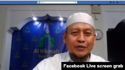 Ceramah Ramadan yang disiarkan langsung melalui Facebook Live (foto: ilustrasi).