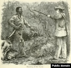 Nat Turner captured by Mr. Benjamin Phipps, a local farmer