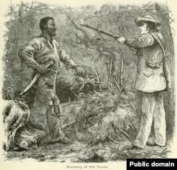Nat Turner captured by Mr. Benjamin Phipps, a local farmer