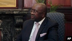 FILE - South Africa's new Minister of Finance, Nhlanhla Nene.