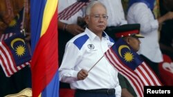 Malaysia's Prime Minister Najib Razak, seen here during National Day celebrations in Kuala Lumpur, Aug. 31, 2015, was also mentioned as a target in the alleged IS threat.