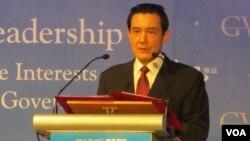 台灣總統 馬英九(美國之音 張永泰拍攝)
