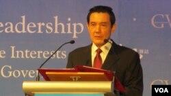 台湾总统 马英九(美国之音 张永泰拍摄)