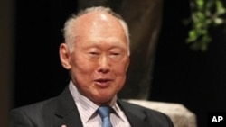 FILE - Singapore's former Prime Minister Lee Kuan Yew.