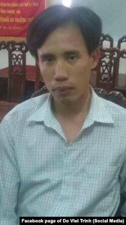 Ảnh được cho là chụp ông Hoàng Đức Bình sau khi bị công an bắt ngày 15/5/2017
