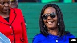 L'ex-première dame du Zimbabwe, Grace Mugabe, à l'ouverture de la foire agricole annuelle dans la capitale Harar, 25 août 2017.