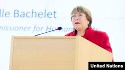 Inson huquqlari bo'yicha BMT bosh rasmiysi Mishel Bachelet
