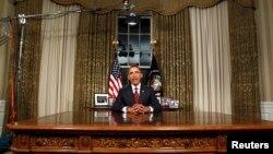 Predsednik Obama prilikom za sada poslednjeg obraćanja američkoj javnosti iz Ovalne kancelarije, 31. avgusta 2010. godine