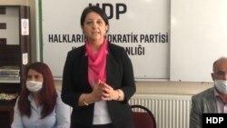 HDP eş başkanı Pervin Buldan Kars'ta konuştu.