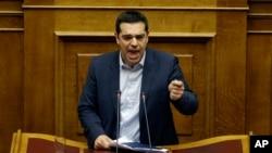 Thủ tướng Hy Lạp Alexis Tsipras đọc diễn văn trước quốc hội, 8/2/15